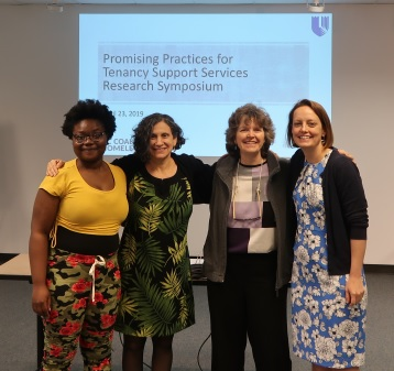 Biederman and Colleagues at the Research Symposium on Tenancy Support Services in North Carolina