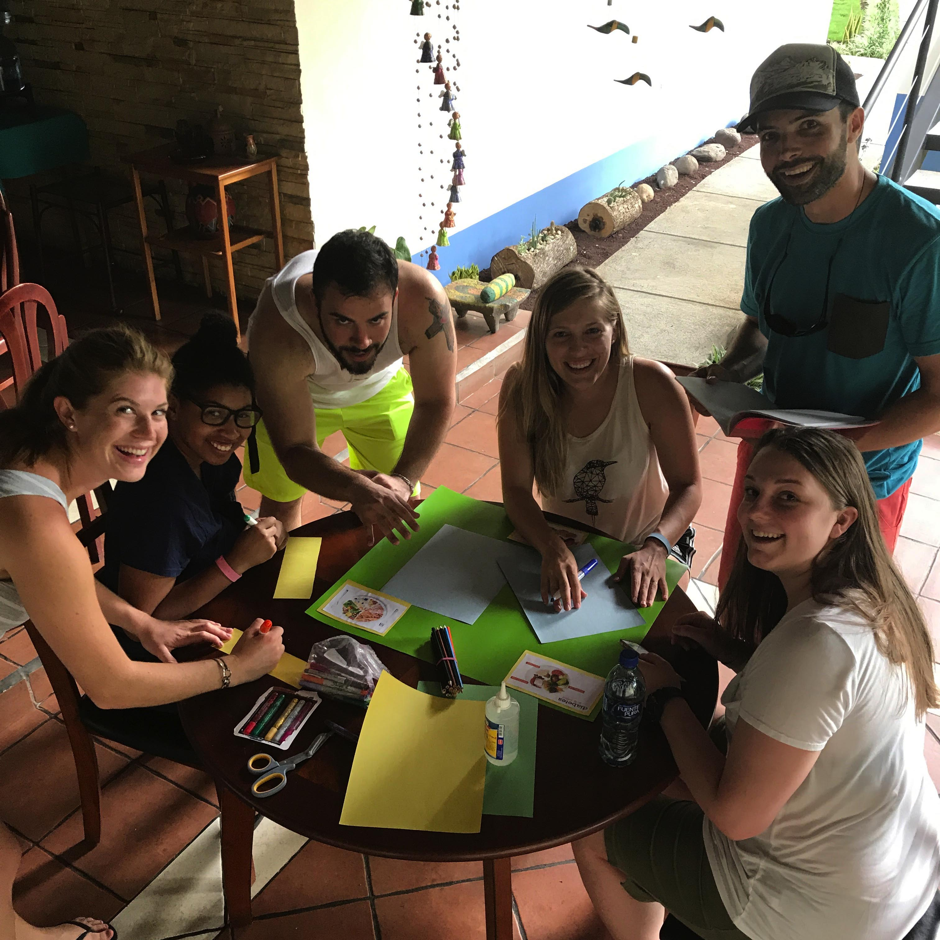 Students working on project in Nicaragua