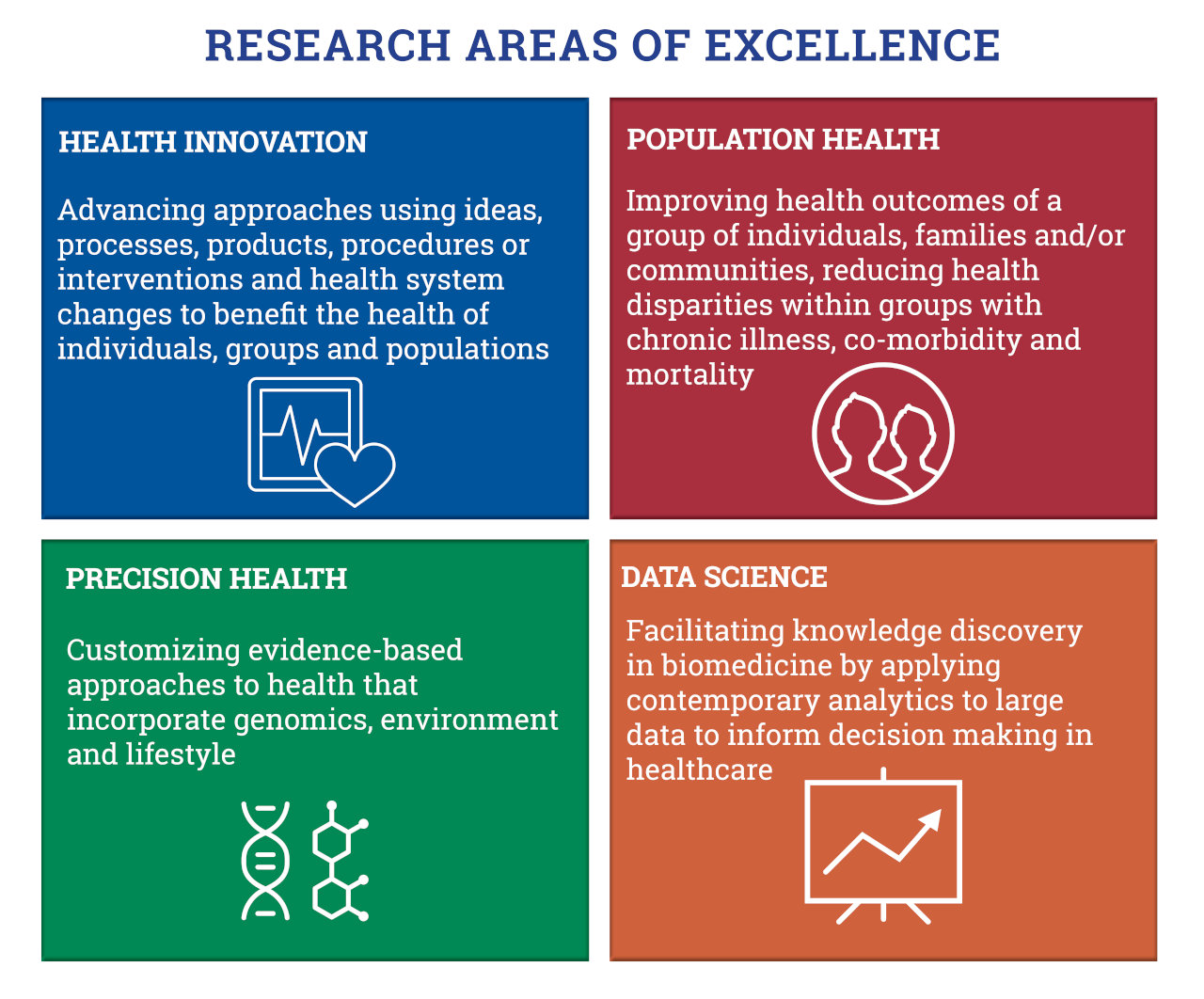 Research Areas of Excellence graphic