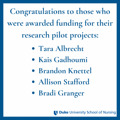 faculty awarded pilot research projects
