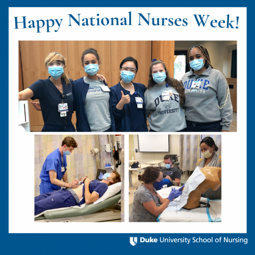 female male nursing students nurses week graphic