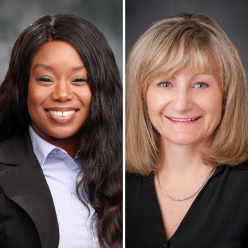 tolu oyesanya and karin reuter rice headshots